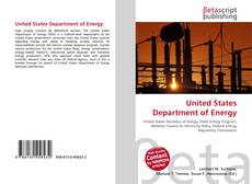 Buchcover von United States Department of Energy