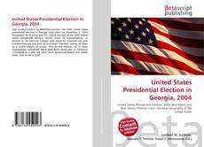 Bookcover of United States Presidential Election in Georgia, 2004