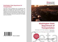 Washington State Department of Transportation kitap kapağı