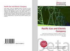 Bookcover of Pacific Gas and Electric Company