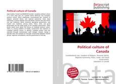 Couverture de Political culture of Canada