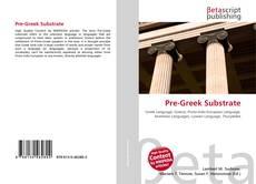 Portada del libro de Pre-Greek Substrate
