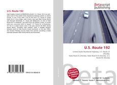 Bookcover of U.S. Route 192