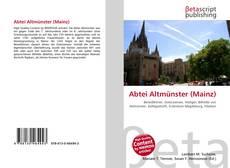 Capa do livro de Abtei Altmünster (Mainz)