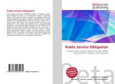 Buchcover von Public Service Obligation