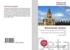 Bookcover of Westminster System