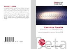 Relevance Paradox kitap kapağı