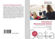 Обложка University of Massachusetts Boston
