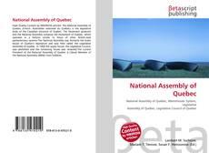 Portada del libro de National Assembly of Quebec