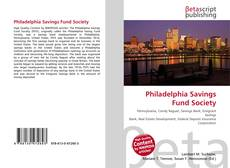 Bookcover of Philadelphia Savings Fund Society