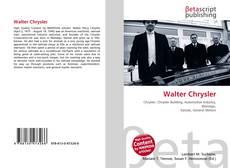 Walter Chrysler kitap kapağı