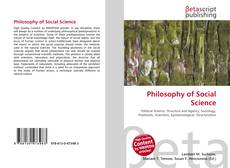 Bookcover of Philosophy of Social Science
