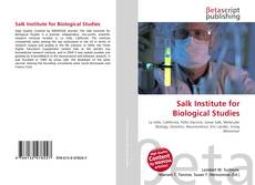 Salk Institute for Biological Studies kitap kapağı