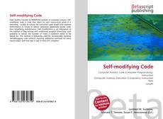 Capa do livro de Self-modifying Code