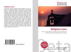 Обложка Religious vows