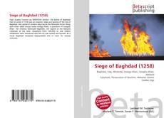 Capa do livro de Siege of Baghdad (1258)