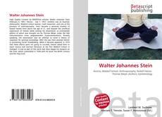 Bookcover of Walter Johannes Stein