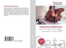 University of Baltimore的封面