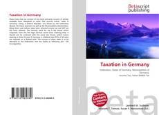 Portada del libro de Taxation in Germany
