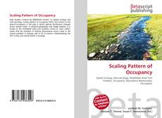 Buchcover von Scaling Pattern of Occupancy