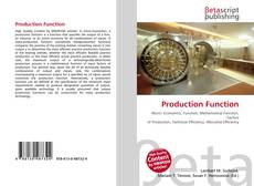 Bookcover of Production Function