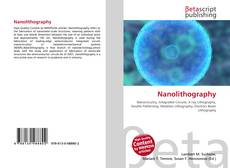 Bookcover of Nanolithography