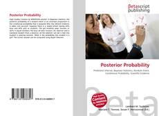 Portada del libro de Posterior Probability