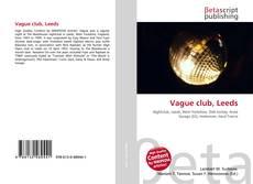 Capa do livro de Vague club, Leeds