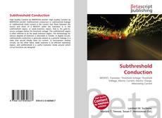 Capa do livro de Subthreshold Conduction