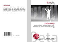 Bookcover of Seasonality