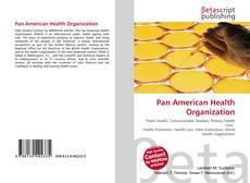 Capa do livro de Pan American Health Organization