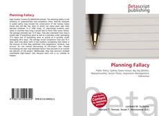 Couverture de Planning Fallacy