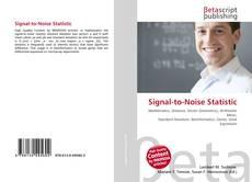 Capa do livro de Signal-to-Noise Statistic