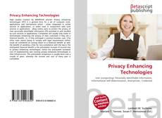 Bookcover of Privacy Enhancing Technologies