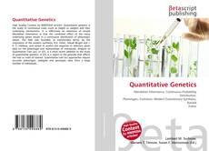 Bookcover of Quantitative Genetics