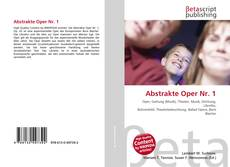 Bookcover of Abstrakte Oper Nr. 1
