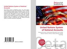 Bookcover of United Nations System of National Accounts