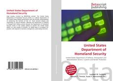 Buchcover von United States Department of Homeland Security