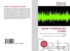 Bookcover of Section 115 Reform Act of 2006