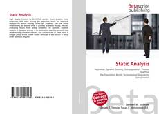 Bookcover of Static Analysis