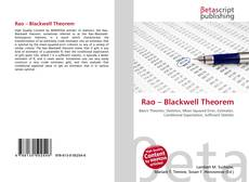 Bookcover of Rao – Blackwell Theorem