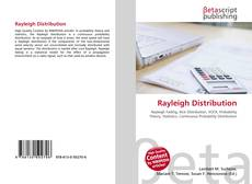 Обложка Rayleigh Distribution