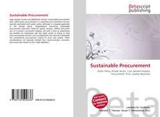 Sustainable Procurement kitap kapağı