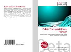 Bookcover of Public Transport Route Planner