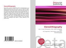 Stereolithography kitap kapağı