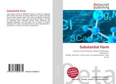 Bookcover of Substantial Form
