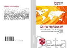 Bookcover of Subtype Polymorphism