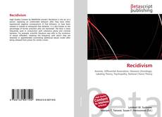 Bookcover of Recidivism