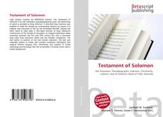 Testament of Solomon的封面