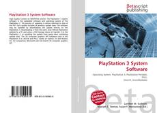 Bookcover of PlayStation 3 System Software